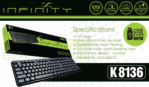[รีวิว-Review] INFINITY Keyboard USB (K8136)